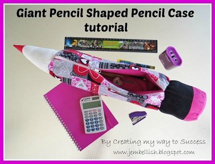 Giant Pencil Shaped Pencil Case tutorial