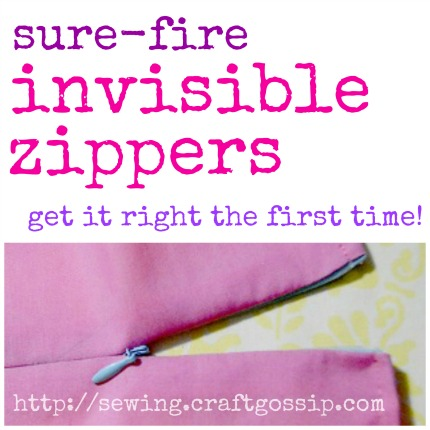 Sure-Fire Invisible Zippers, get it right the first time