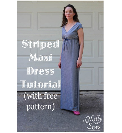 Free pattern: V-neck maxi sundress – Sewing