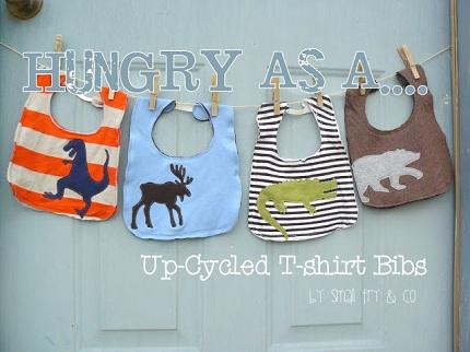 Tutorial: Upcycled t-shirt bibs