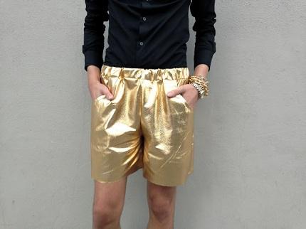 Gold Shorts Deatil Shot