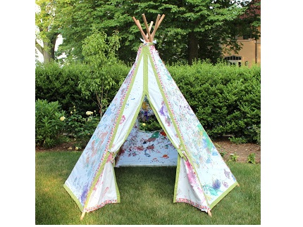 tutorial make a teepee play tent sewing. Black Bedroom Furniture Sets. Home Design Ideas