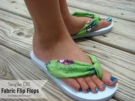 Tutorial 15 Minute Fabric Strap Flip Flops Sewing