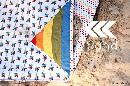 Tutorial: Rainbow Beach Blanket that won't blow away
