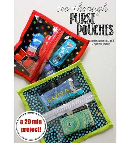 Tutorial: See-through zippered purse pouch