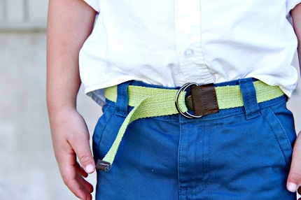 Tutorial: Dyed twill D-ring belt