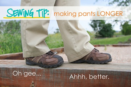 Tutorial: Letting out a pants hem