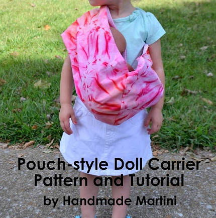 Free Pattern Pouch Style Doll Carrier Sewing