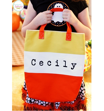 Tutorial: Candy Corn Tote Bag