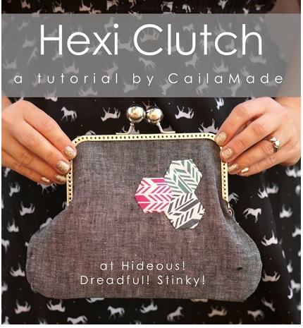 Tutorial: Hexi Clutch frame purse