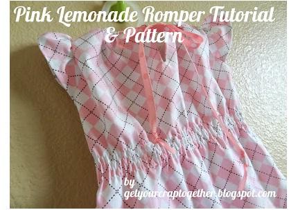 Free Pattern Pink Lemonade Romper For Baby Girls Sewing