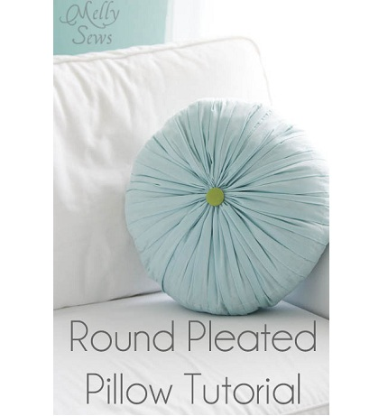 Round Throw Pillow Ideas : Tutorial: Round pleated and tufted accent pillow ? Sewing