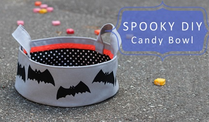 Tutorial: Fabric basket for handing out Halloween candy