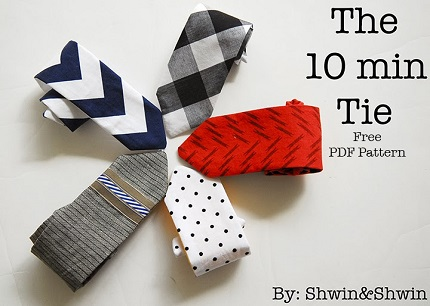 Free Pattern 10 Minute Tie For Boys Or Girls Sewing
