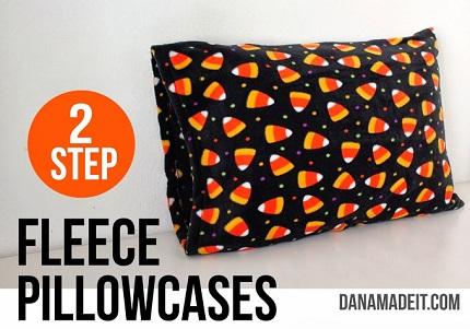 Tutorial: 2-step fleece pillowcases