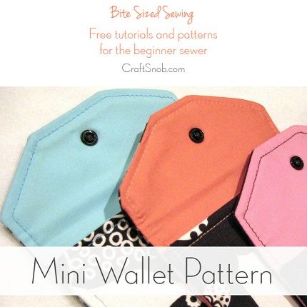 Free pattern: Mini wallet made from fabric scraps