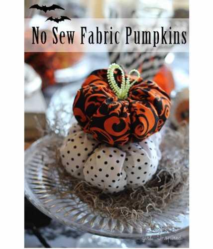 Tutorial: No-sew soft fabric pumpkins