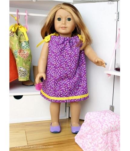 "Free pattern: Pillowcase dress for an 18"" doll"