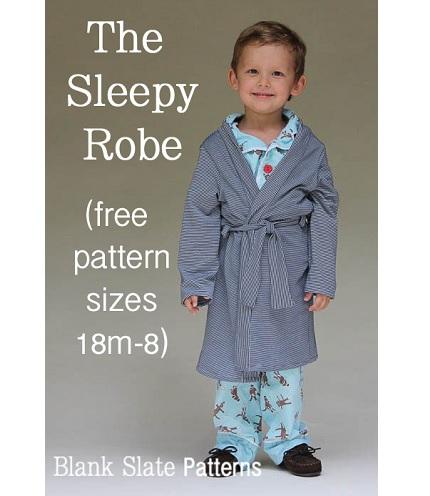 Free pattern: Sleepy Robe in kid sizes