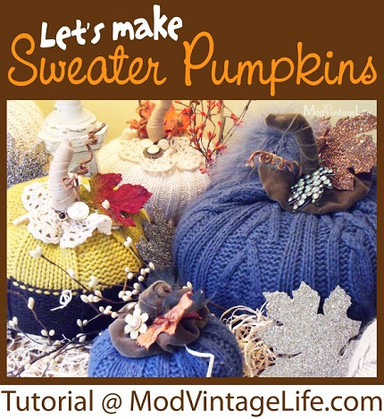 Tutorial: Sweater pumpkins with fancy stems