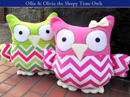 Free pattern: Sleepy Time Stuffed Owl