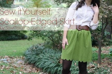 Tutorial: Scalloped winter skirt