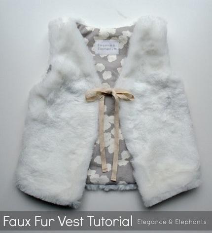 Tutorial: Child's faux fur vest