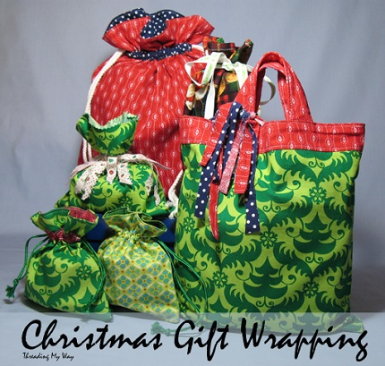 Tutorial: Reusable fabric gift bags in several styles