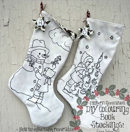 Tutorial Coloring Book Christmas Stockings