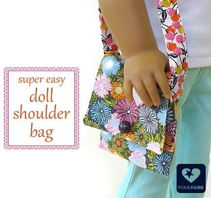 Tutorial simple shoulder bag for an american girl doll for Easy american girl doll crafts
