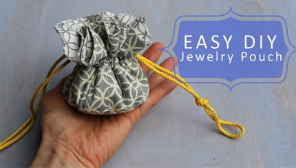 Tutorial drawstring jewelry pouch sewing for Drawstring jewelry bag pattern