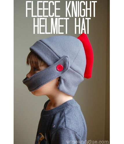 Free pattern: Fleece knight hat