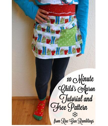 Free pattern: 10-minute child's apron