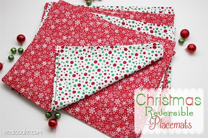 Tutorial: Reversible placemats to set a festive holiday table