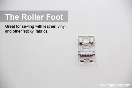 Tutorial: About the roller foot, plus how to make a cinched leather bow