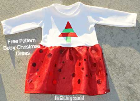 Free pattern: T-shirt and tulle Christmas dress for baby