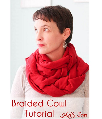 Tutorial: Braided fleece cowl