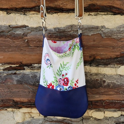 Tutorial: Vintage tablecloth cross-body tote