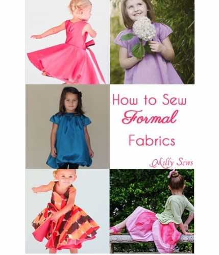 Melissa's tips for sewing on fancy fabrics