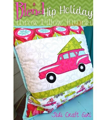 Tutorial: Hip Holiday retro station wagon Christmas pillow