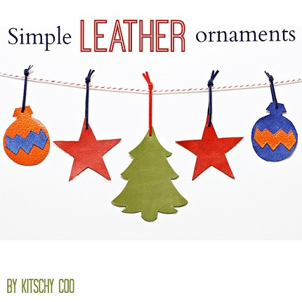 Tutorial: Simple leather ornaments