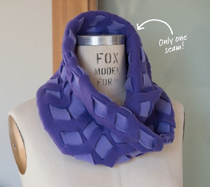 Tutorial Low Sew Woven Fleece Cowl Sewing