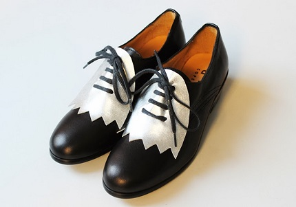 Tutorial: DIY no-sew color blocked oxfords