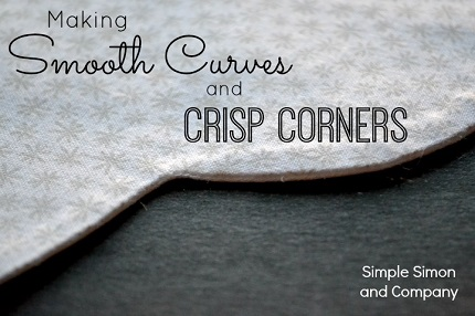 Tutorial: Sewing smooth curves and crisp corners