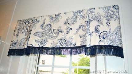 Tutorial Box Pleat Window Valance Sewing