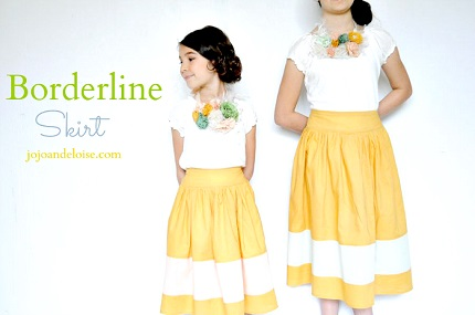 Tutorial: Gathered skirt with a color blocked hem