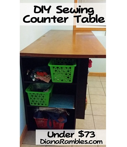 Tutoria: DIY counter height cutting table for less than $75