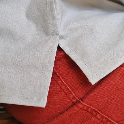 Tutorial: Lapped flat-felled split side seam