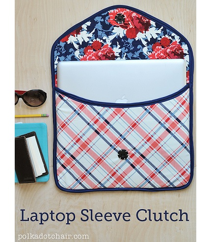 Tutorial: Clutch style padded laptop sleeve