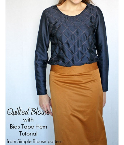 Tutorial:  Quilted Simple Blouse variation